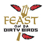 """Feast on da Dirty Birds"" Frost Flex Cups (25/pk) - Party Cup Express"