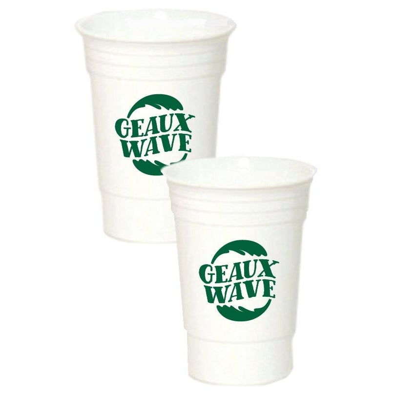 "Tulane ""GEAUX WAVE"" 16 oz Insulated Party Cups - Party Cup Express"