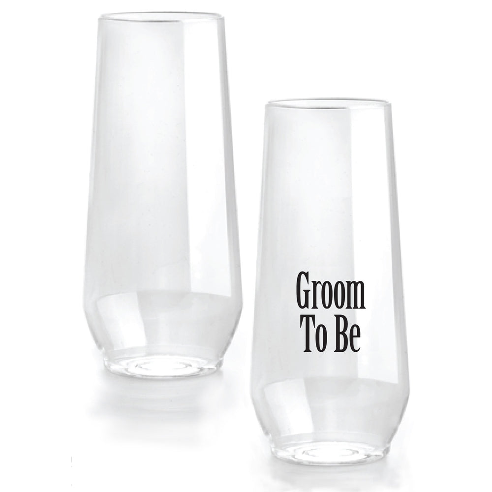 'Groom to Be' Stemless Flutes (1/pk)