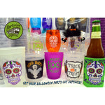 Day Of The Dead {Sugar Skull} Glow-In-The-Dark Cups (pk/20) - Party Cup Express