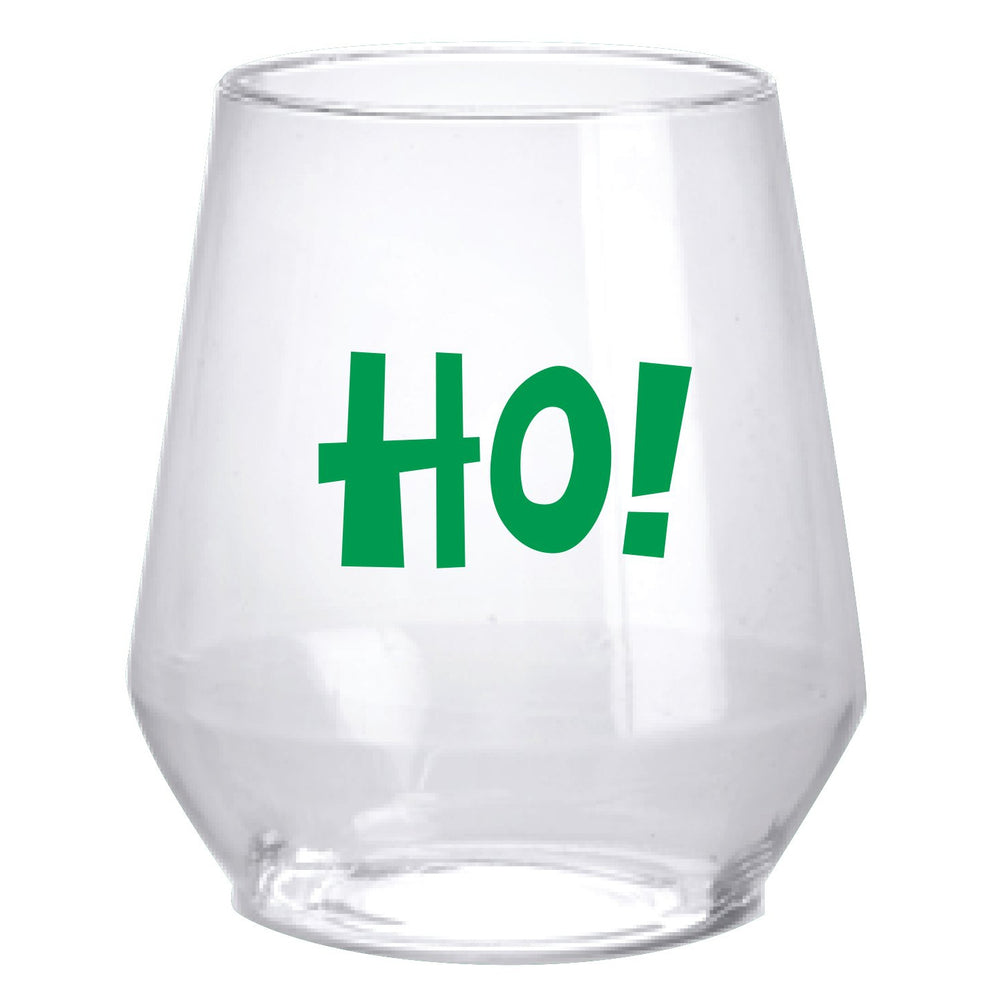 'Ho! Ho! Ho!' Stemless Wine Glasses - Party Cup Express