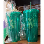"""I Like It On Top"" 22oz Green Tumbler"