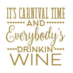 """NOLA Carnival Time & Wine"" 16oz Stemless Wine (4/pk)"