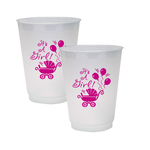 """It's A Girl"" 16oz Frost Flex Cups (25/Pk)"