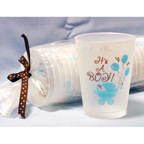"""It's A Boy"" Frost Flex Cups (25/Pk) - Party Cup Express"