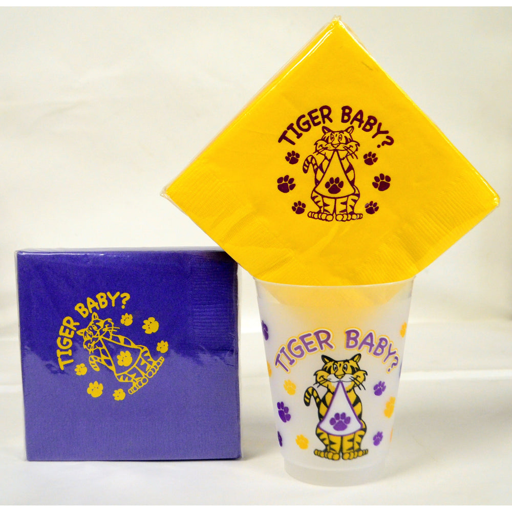 """Tiger Baby"" Beverage Napkins - Party Cup Express"