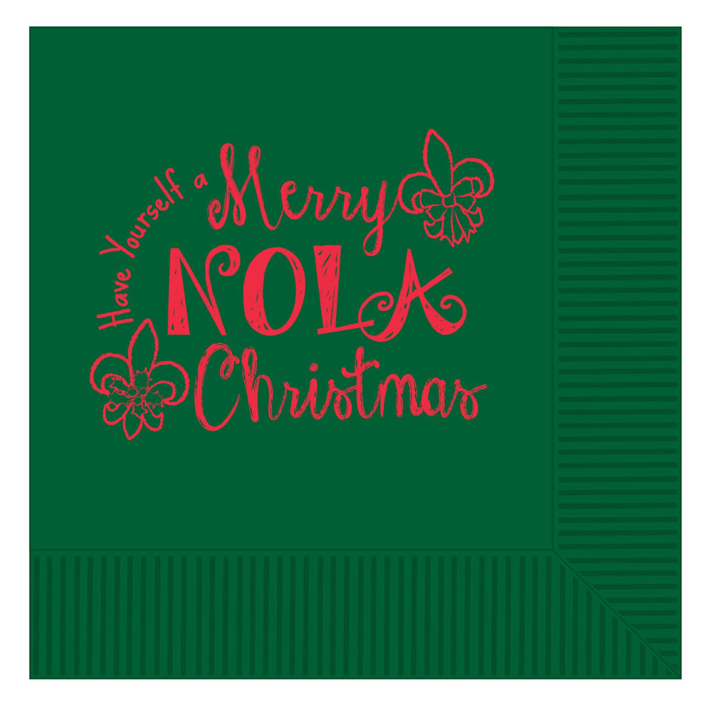 'Merry Nola Christmas' Beverage Napkins (Pack/25)