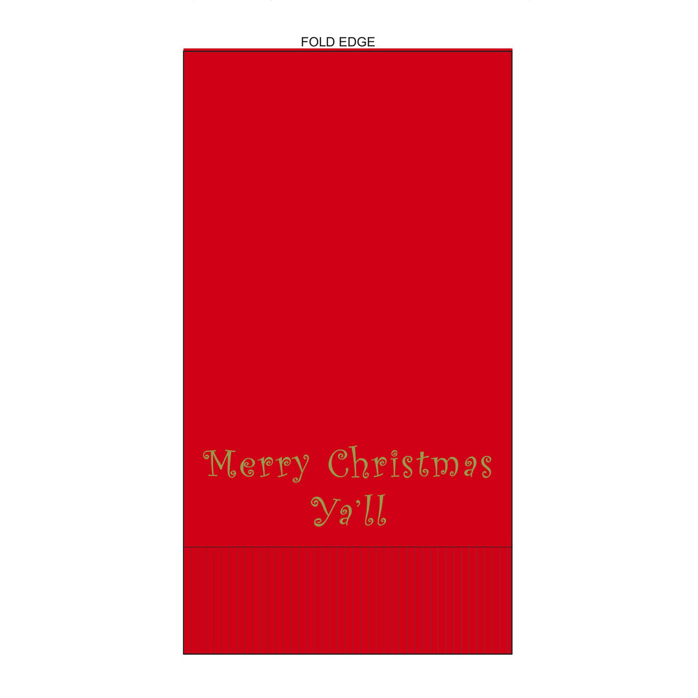 'Merry Christmas Ya'll' Guest Towels (25/pk) - Party Cup Express