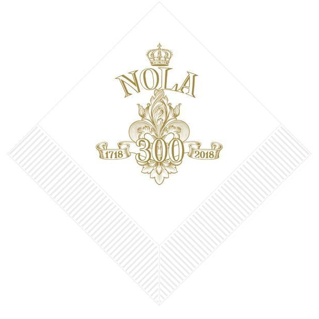 NOLA Tricentennial Beverage Napkins [25/pk] - Party Cup Express