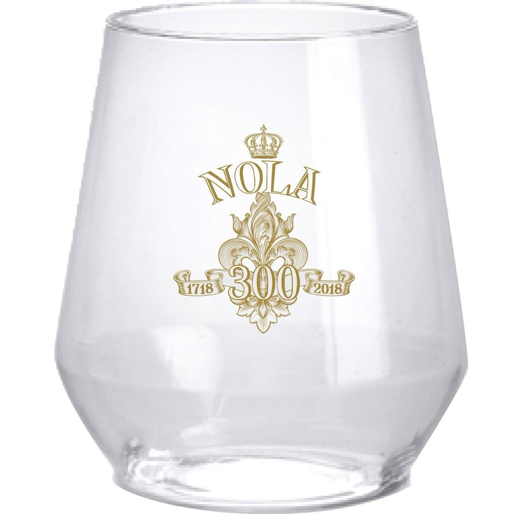 NOLA Tricentennial 12 oz. Stemless Wine [6/pk] - Party Cup Express