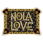 'NOLA Funky Love Black & Gold' 16oz Frost Flex Cups (25/pk)