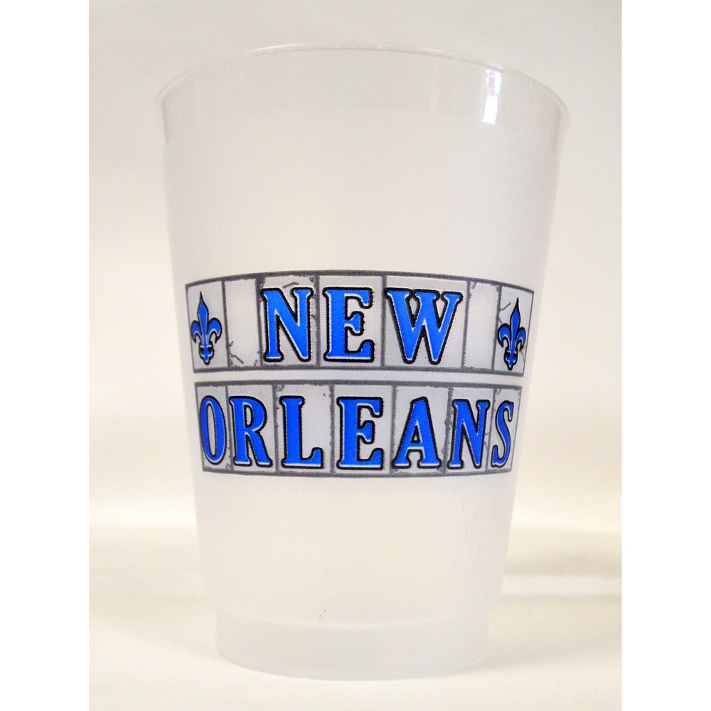 New Orleans Street Tiles Frost Flex Cups (pk/25)
