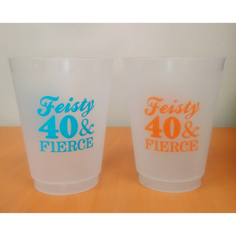Feisty 40 & Fierce Frost Flex Cups - Party Cup Express