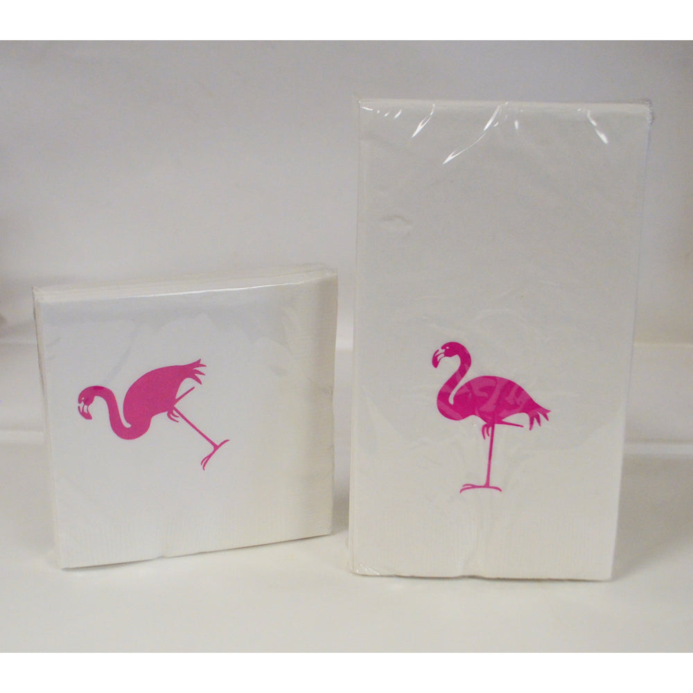 Pink Flamingo Napkins And Guest Towels - Party Cup Express