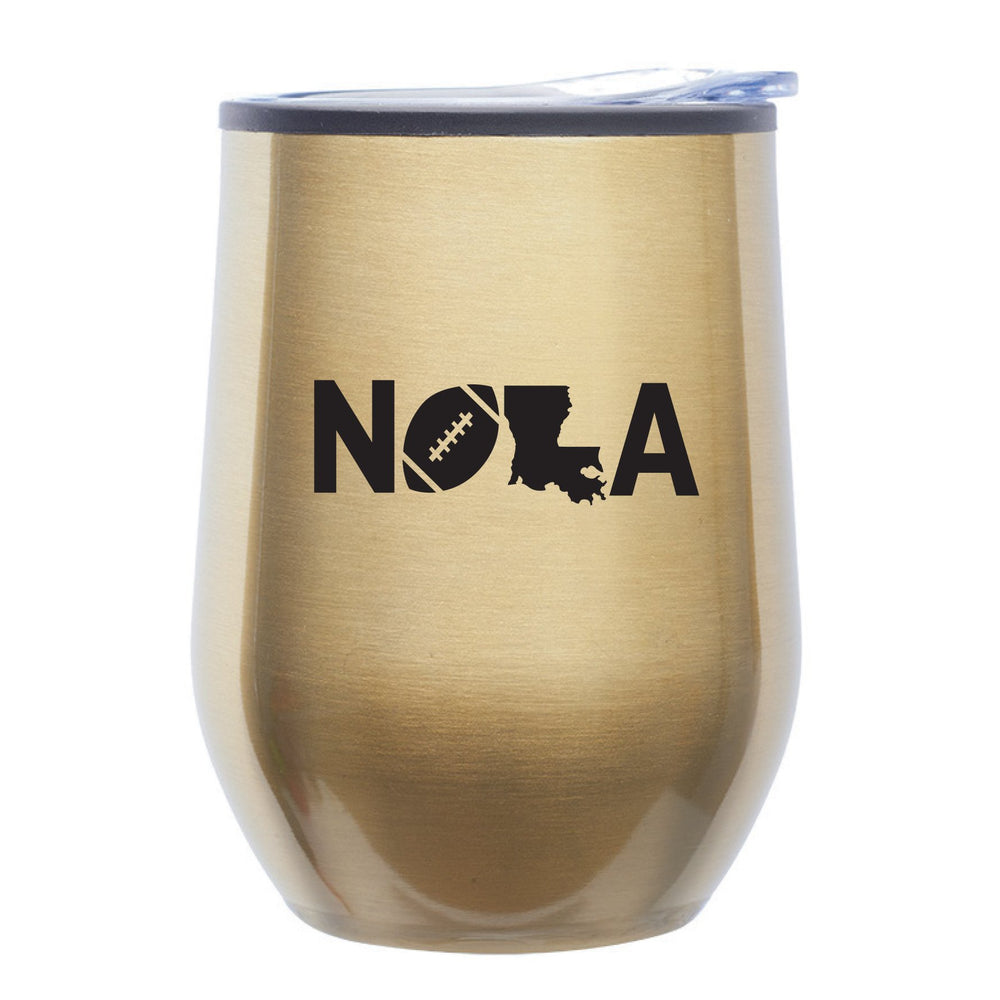 """NOLA Football"" 12oz Stemless Tumbler w/Lid"