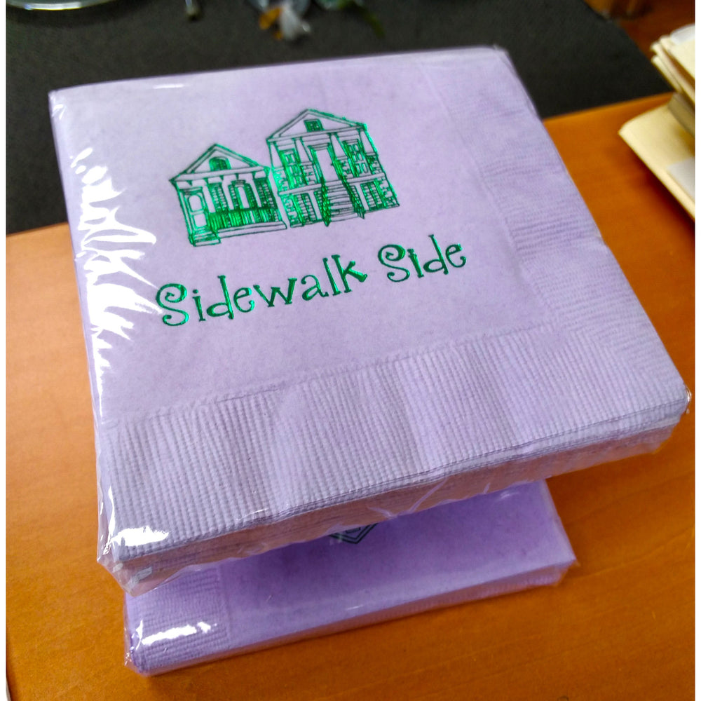Sidewalk Side Beverage Napkins (25/pk)