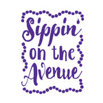 'Sippin on the Avenue' Clear 30oz Gripper Sipper