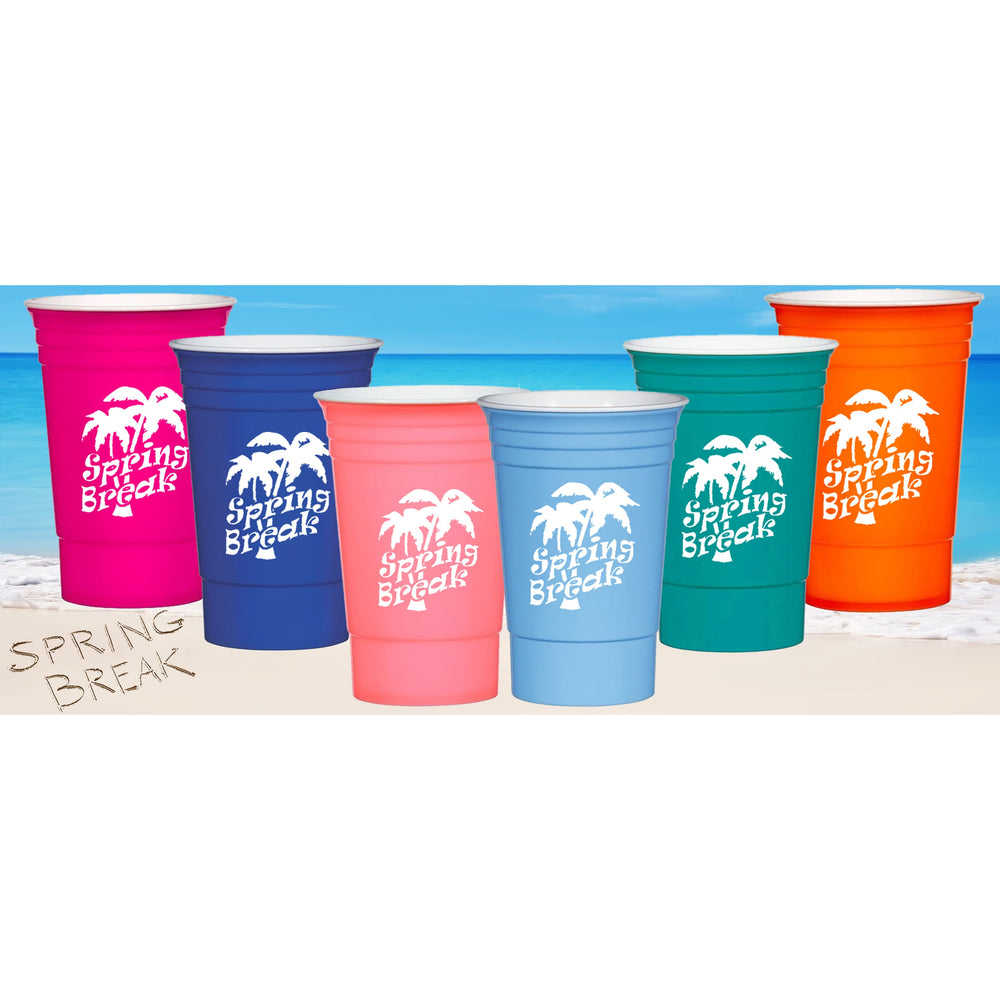 Spring Break Party Cups (pk/6)
