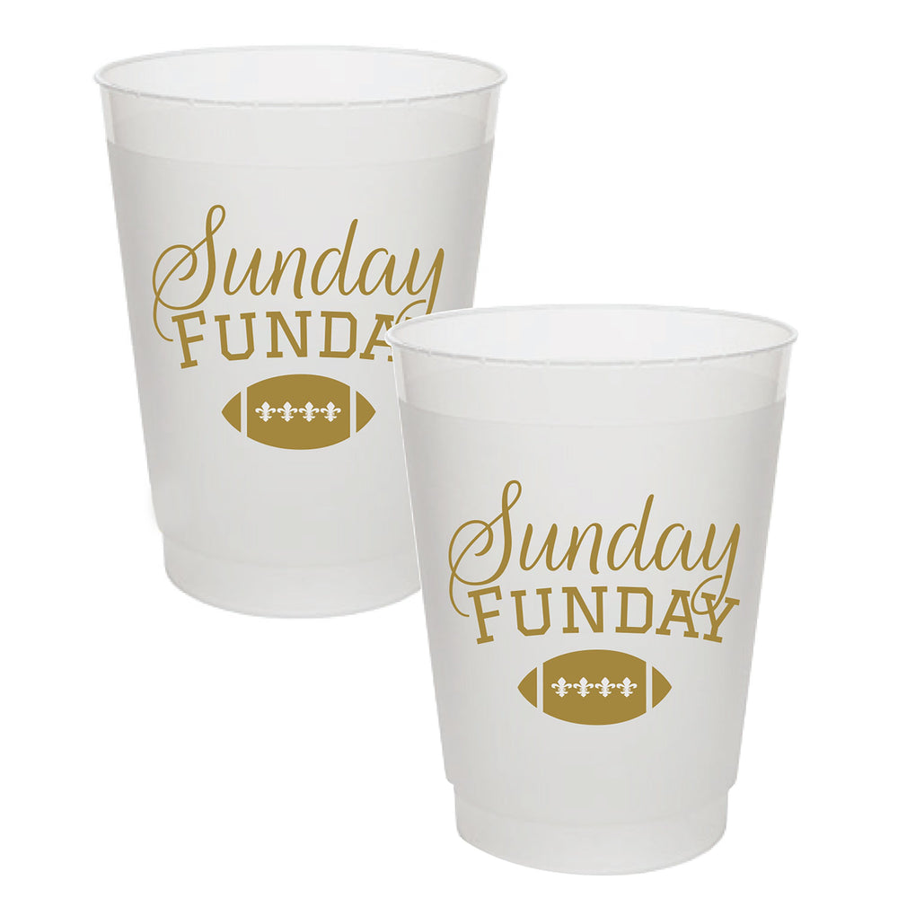 """Sunday Funday"" 16oz Frost Flex Cups (25/pk)"