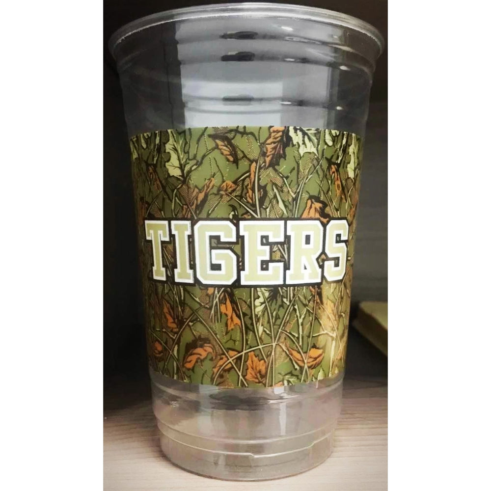 LSU Camo Disposable Cups (pk/50) - Party Cup Express