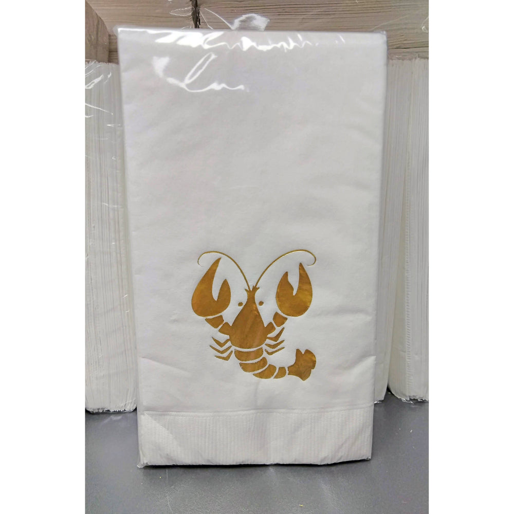 Gold CRAWFISH Guest Towels (25/pk)