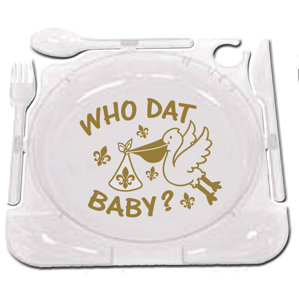 Who Dat Baby? Party Plates (pk/8)