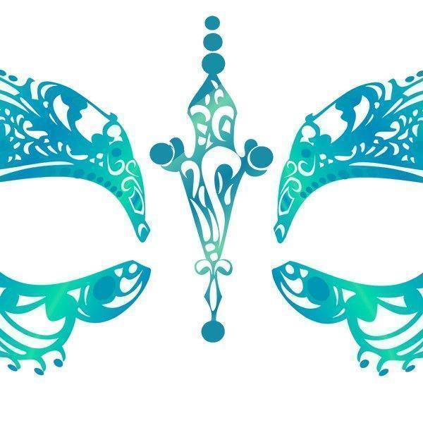 Alluring Teal Temporary Tattoo - Party Cup Express