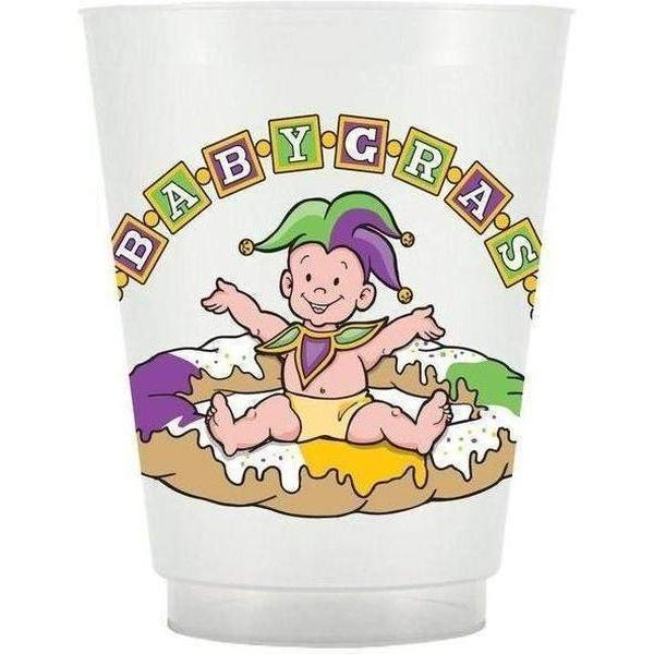 Mardi Gras Baby Frost Flex Cups - Party Cup Express