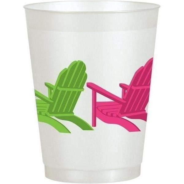 Beach Chair Cups (16oz Frost Flex & 20oz Clear Disposable)