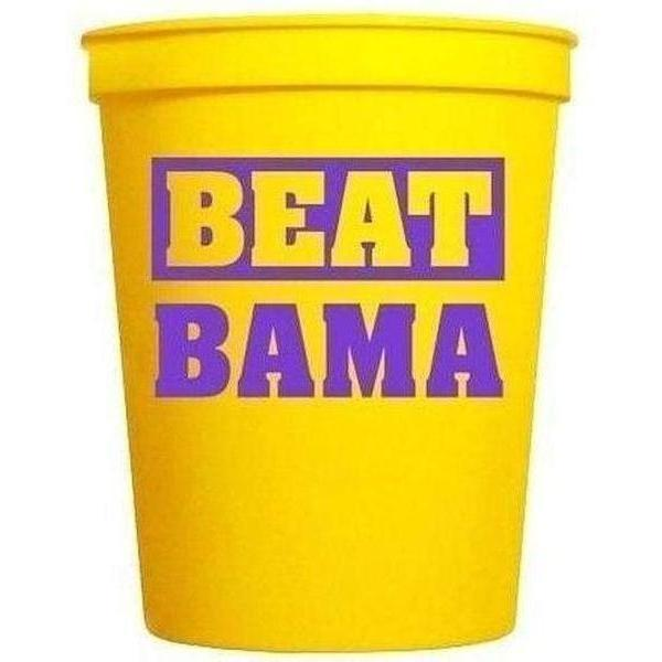 """Beat Bama"" 16 Oz Souvenir Cups - Party Cup Express"
