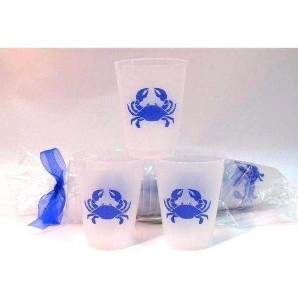 Blue Crab Frost Flex Cups (pk/25) - Party Cup Express