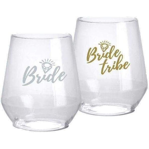 'Bride Tribe' Stemless Glasses