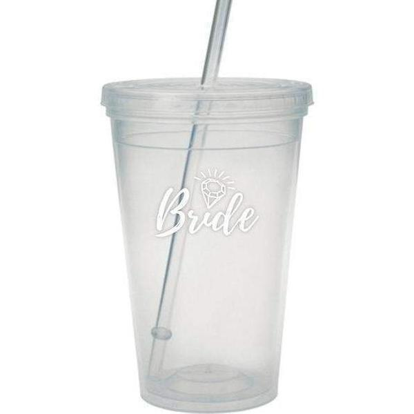 Bride Tumbler with Straw - Party Cup Express