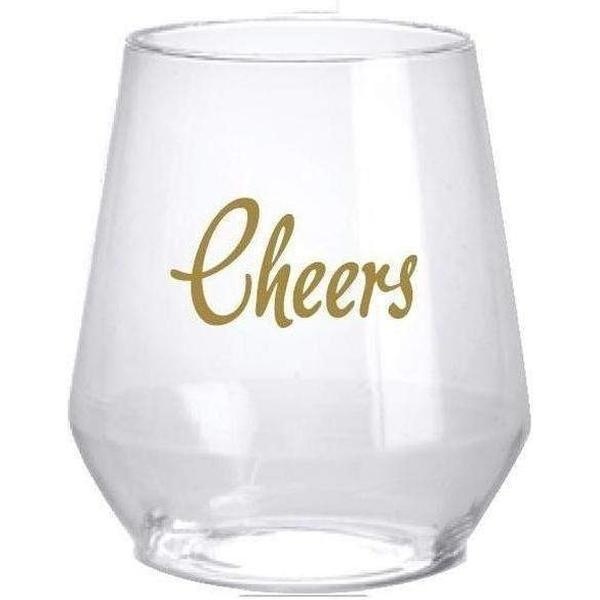 Cheers! Stemless Wine Glasses (pk/6)