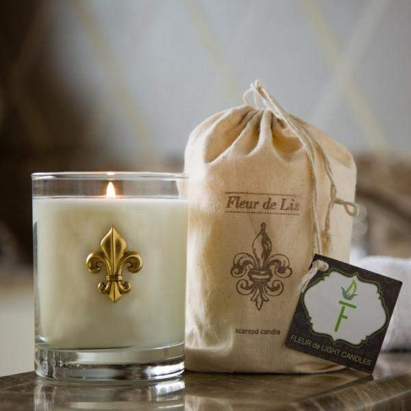 Citrus Bamboo Fleur de Lis Candle - Party Cup Express