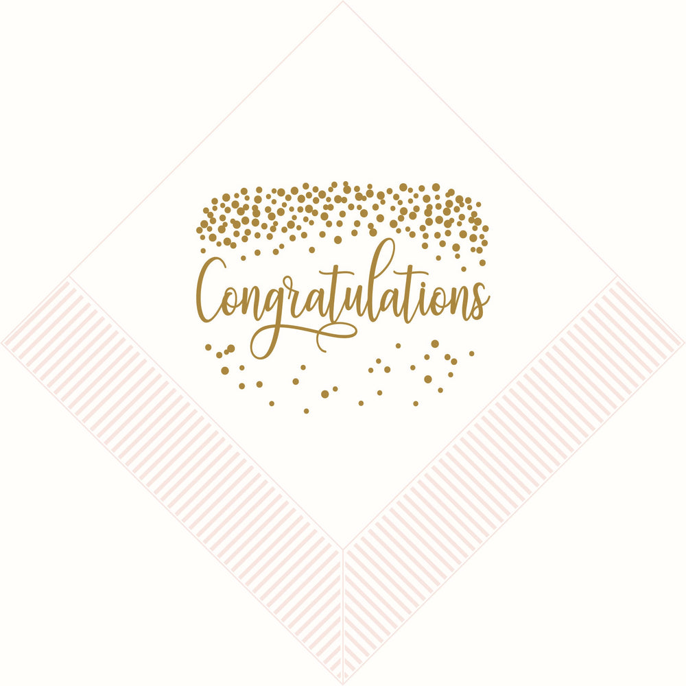 """Congratulations"" beverage napkins (pk of 25)"