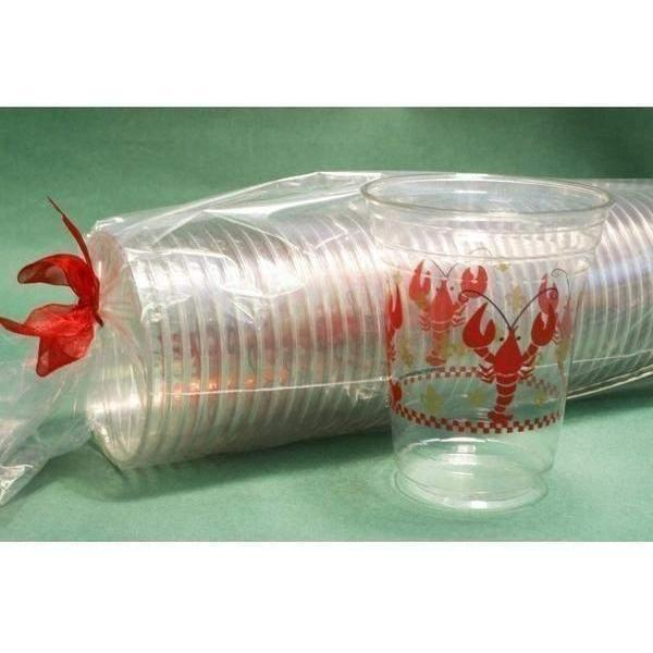 Crawfish & Gold Fleur de Lis Disposable Cups 16oz (50/pk)