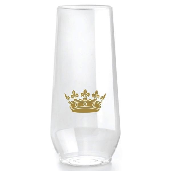 Crown Stemless Champagne Flutes-Party Cup Express