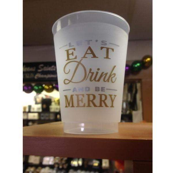Eat Drink & Be Merry Frost Flex Cups - Party Cup Express