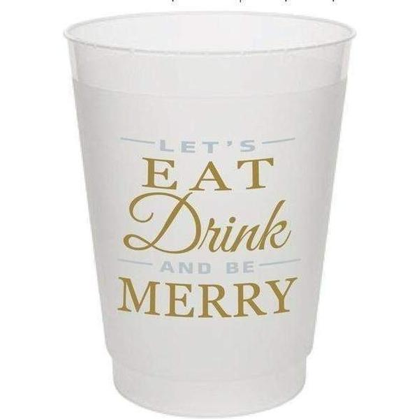Eat Drink & Be Merry Frost Flex Cups