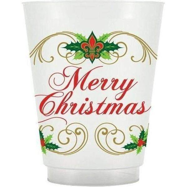 Elegant Christmas Frost Flex Cups - Party Cup Express