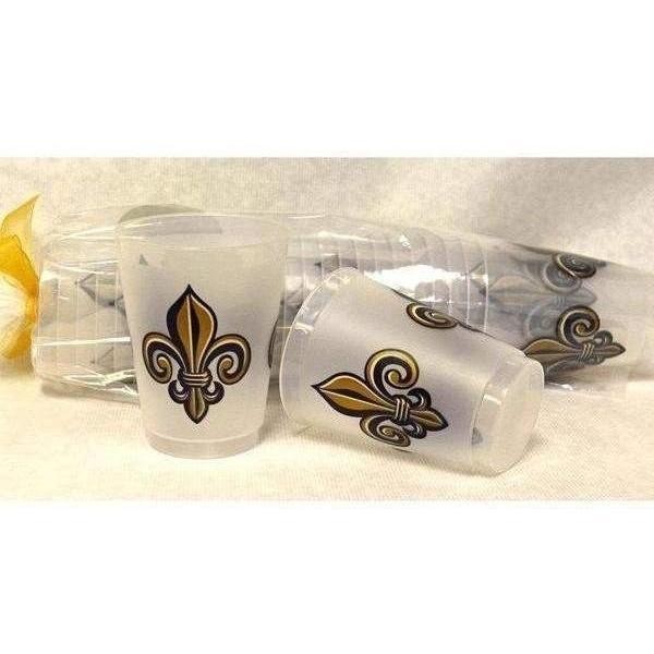 Elegant Black & Gold Fleur De Lis Frost Flex Cups - Party Cup Express