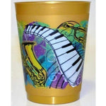Festival Music Gold Frost Flex Cups (pk/25 or 50) - Party Cup Express