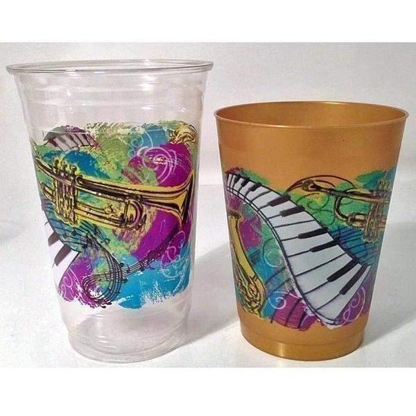 Music Festival Gold Frost Flex Cups (pk/25 or 50)