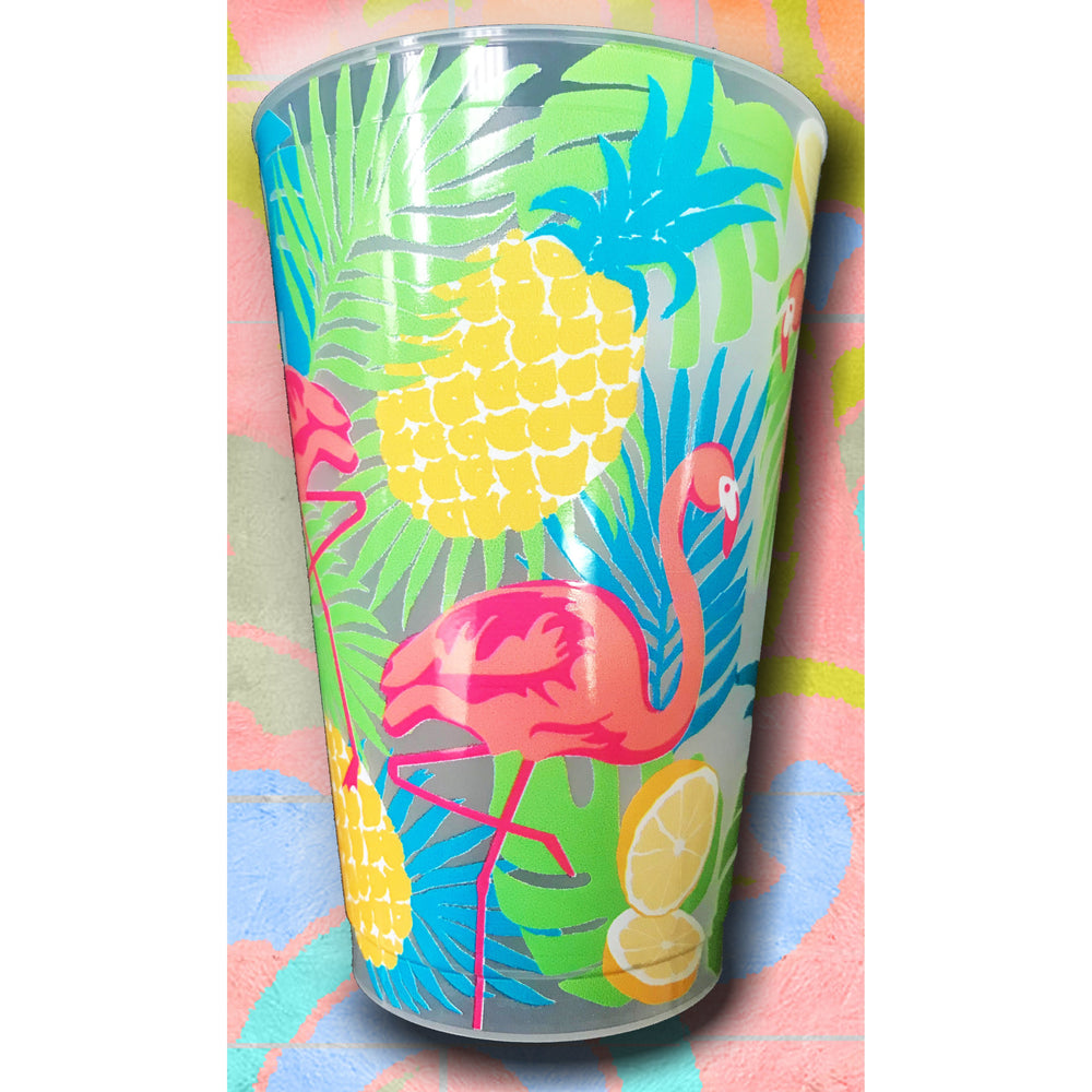 Summer Flamingo Frost Flex Cups (Pk/20)
