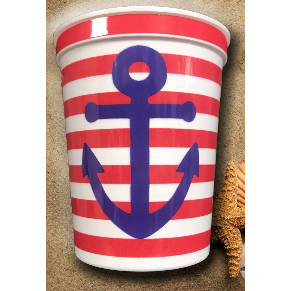 """Nautical Anchor"" Souvenir Cups (pk/20)"