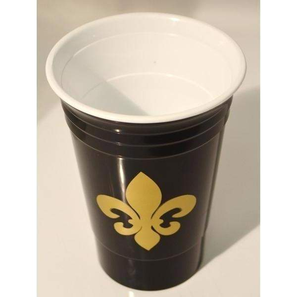 Fleur de Lis 16 oz Insulated Party Cups (white & black available) - Party Cup Express