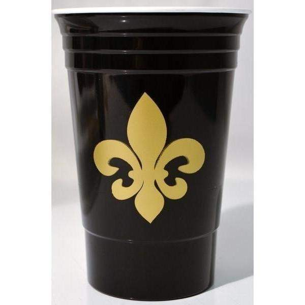 Fleur de Lis 16 oz Insulated Party Cups (white & black available)
