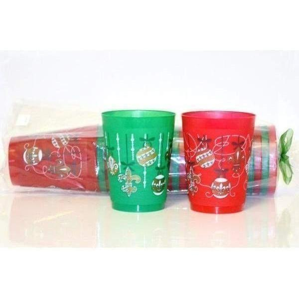Fleur De Lis Christmas Ornaments Cups - Party Cup Express
