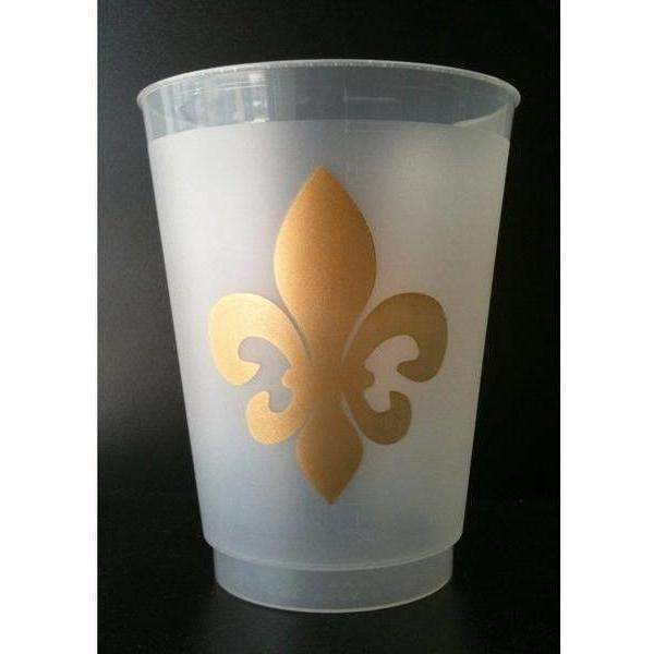 Fleur De Lis Frost Flex Cups - Party Cup Express